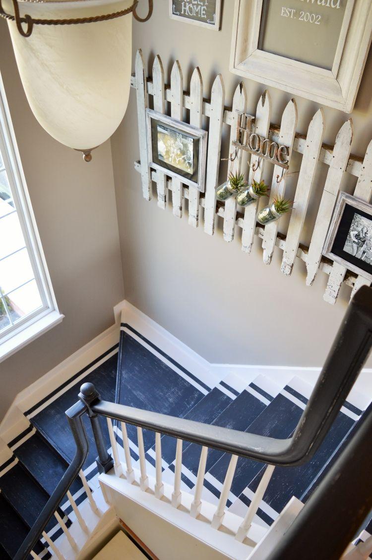 Treppenhaus Renovieren 63 Ideen Zum Neuen Streichen Wandfarbe