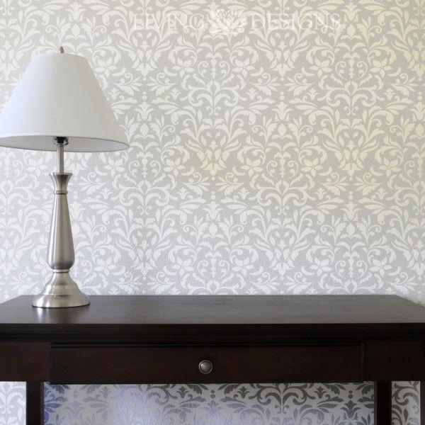pinta y decora tus paredes como papel tapiz con plantillas decorativas