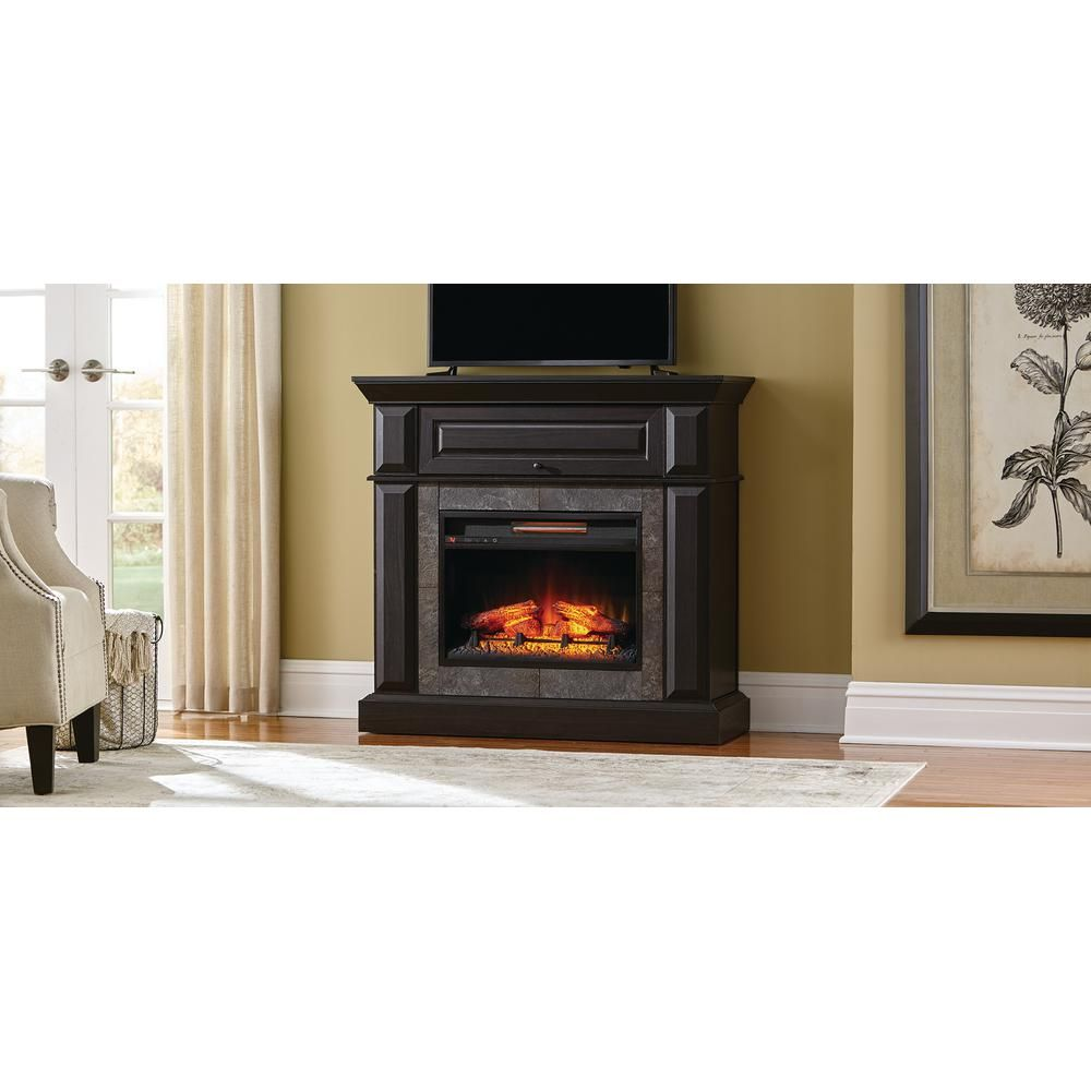 Coleridge 42 In Mantel Console Infrared Electric Fireplace In