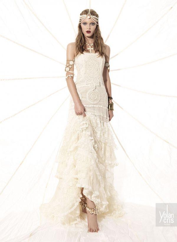 Arriendo de vestidos de novia hippie chic