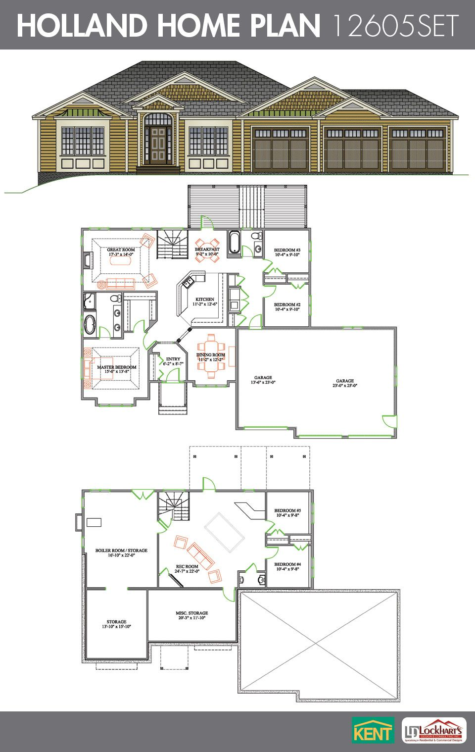Holland Home Plan House Plans Kent Building Ranch House Plans