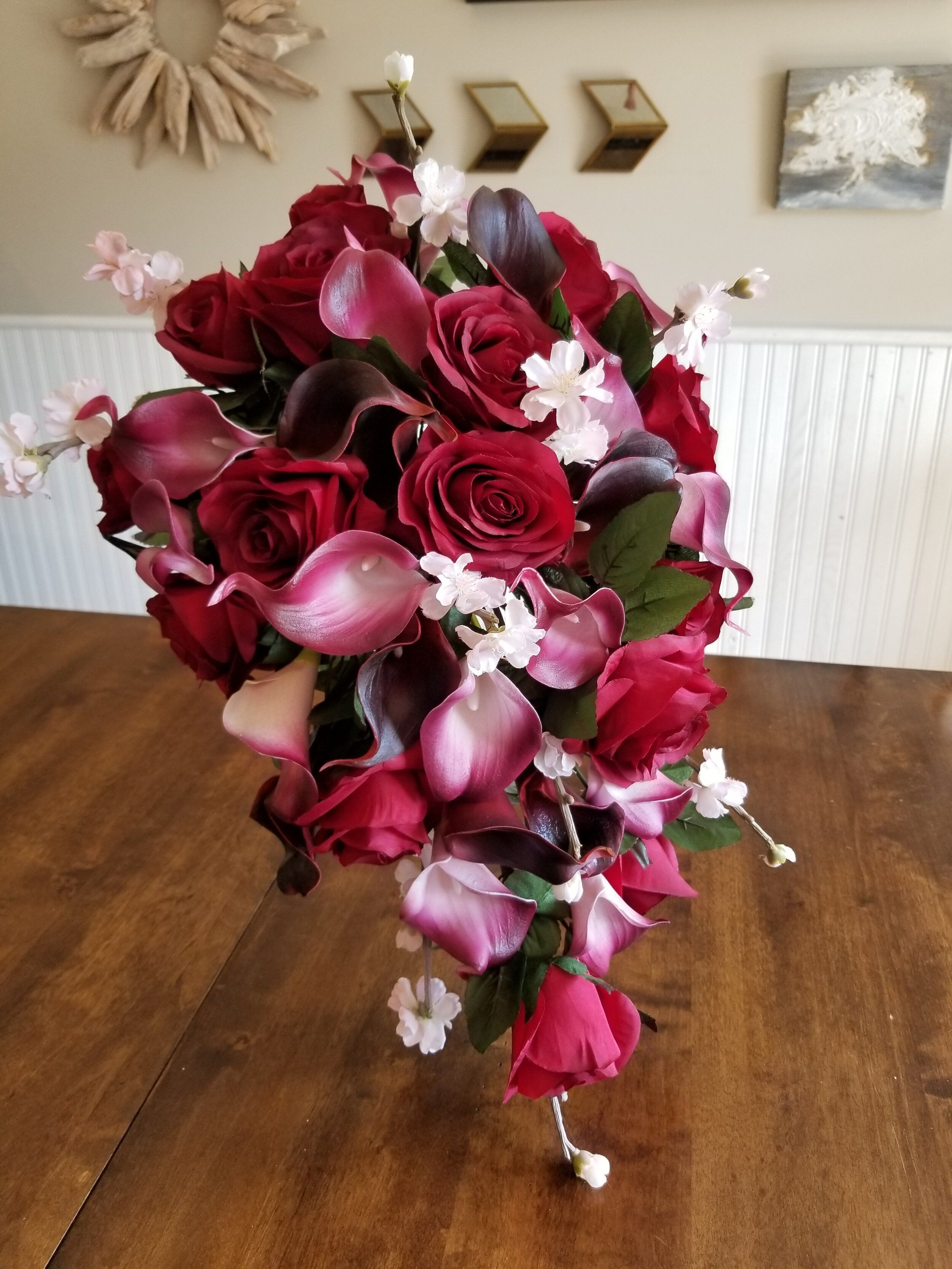 Custom Cascading Silk Bridal Bouquet — Silk Wedding Flowers and Bouquets Online | Love Is Blooming