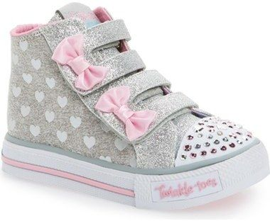 best loved c2ecd 12dc2 SKECHERS  Twinkle Toes - Shuffles  High Top Sneaker (Walker   Toddler)