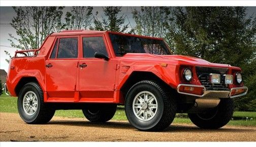 Old School Lamborghini Lm002 It Has A V12 In It Out Of The