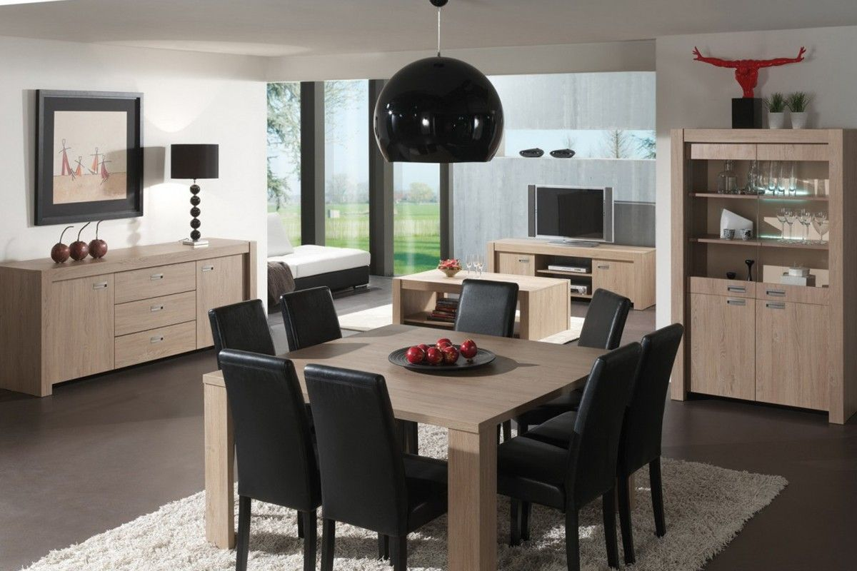 salle manger moderne table carr design cuisine. Black Bedroom Furniture Sets. Home Design Ideas