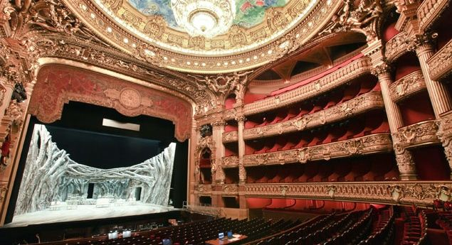 The Paris Opera's Palais Garnier theater inspired the novel The Phantom of the Opera when a mysterious apartment (and, by some accounts, a male corpse) was discovered during renovations. (From: 10 Theaters with Frequent Ghost Sightings)