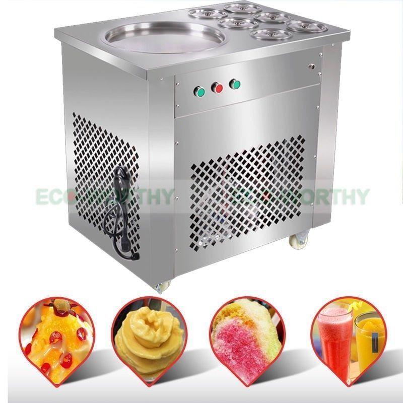 Hot Fry Ice Pan Machine Fried Ice Cream Machine Ice Cream Roll