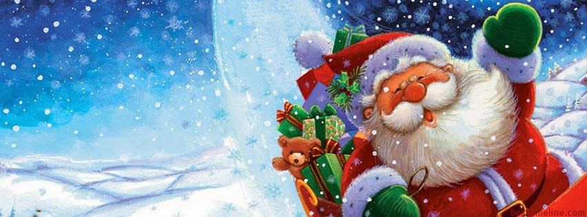 Funny Santa Christmas Timeline Cover   Best Timeline Covers