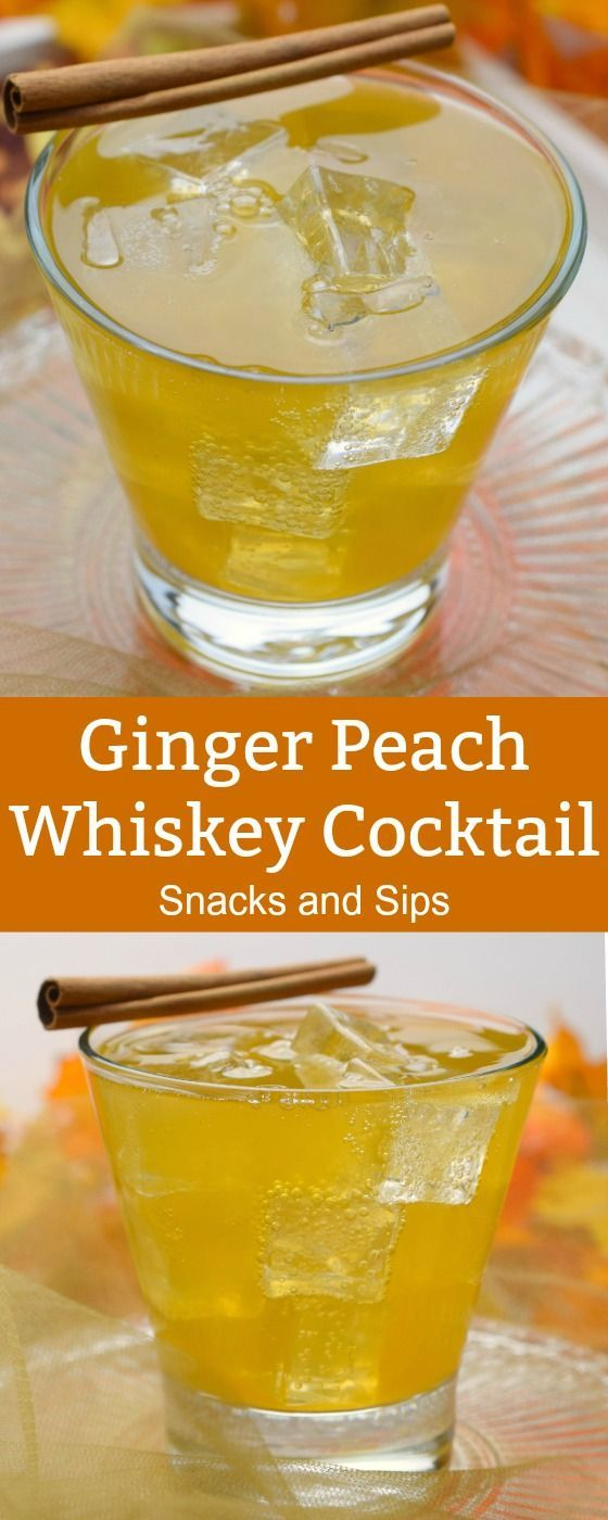 Photo of Ginger and peach whiskey cocktail