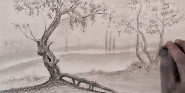 تعلم الرسم منظر طبيعي خطوة بخطوة Painting Art Drawings