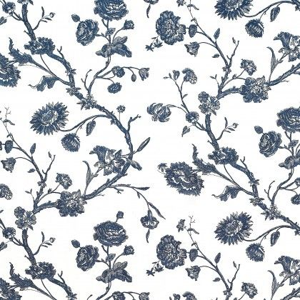 Gastón y Daniela......Floral Navy Blue and white print, a great  accent.