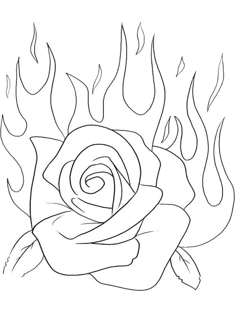 Rose Coloring Pages Printable Free Rose Coloring Pages Flower Coloring Pages Princess Coloring Pages