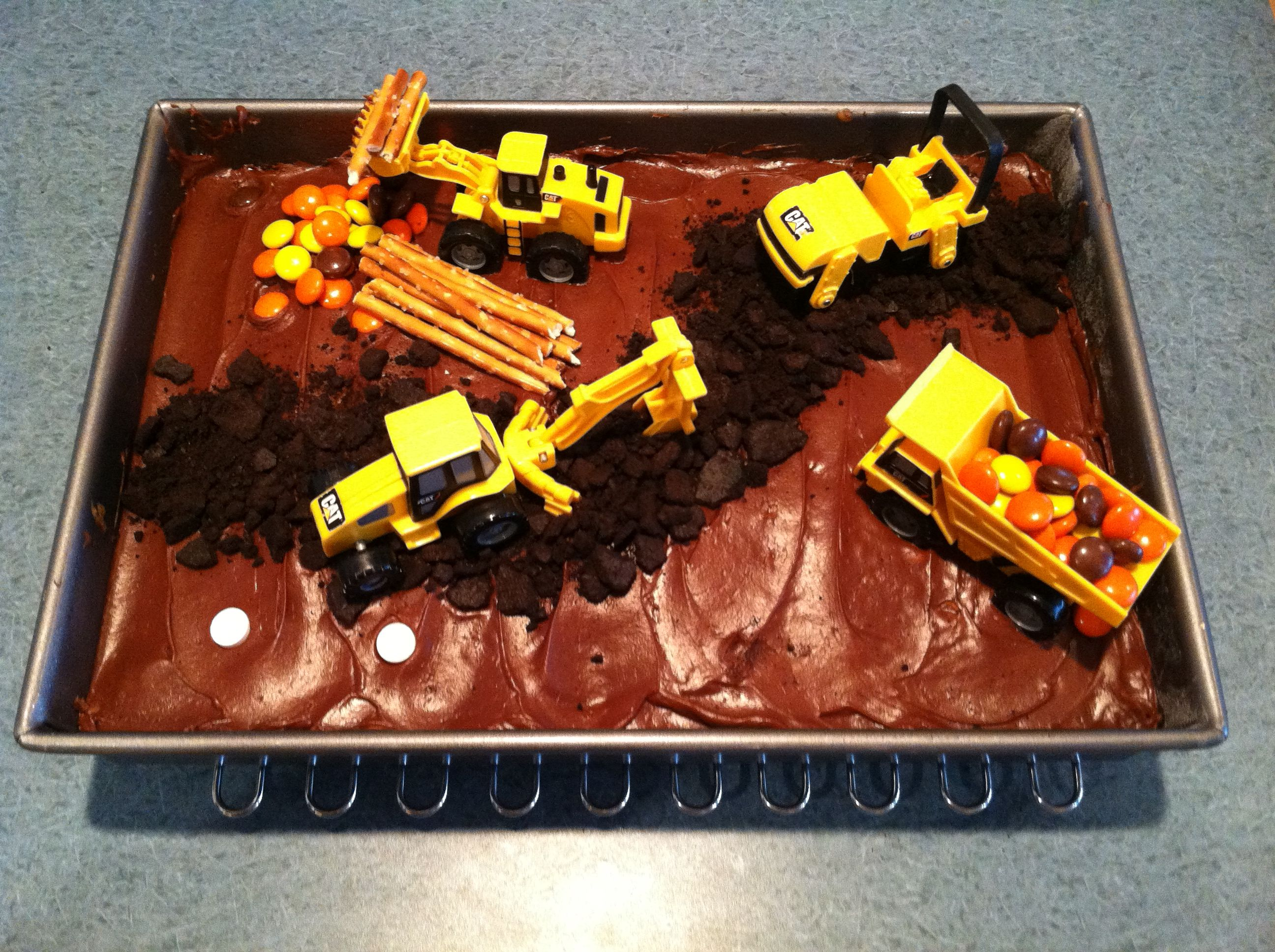 Construction Cake My 4 Year Old Boy S Idea For His Dad S