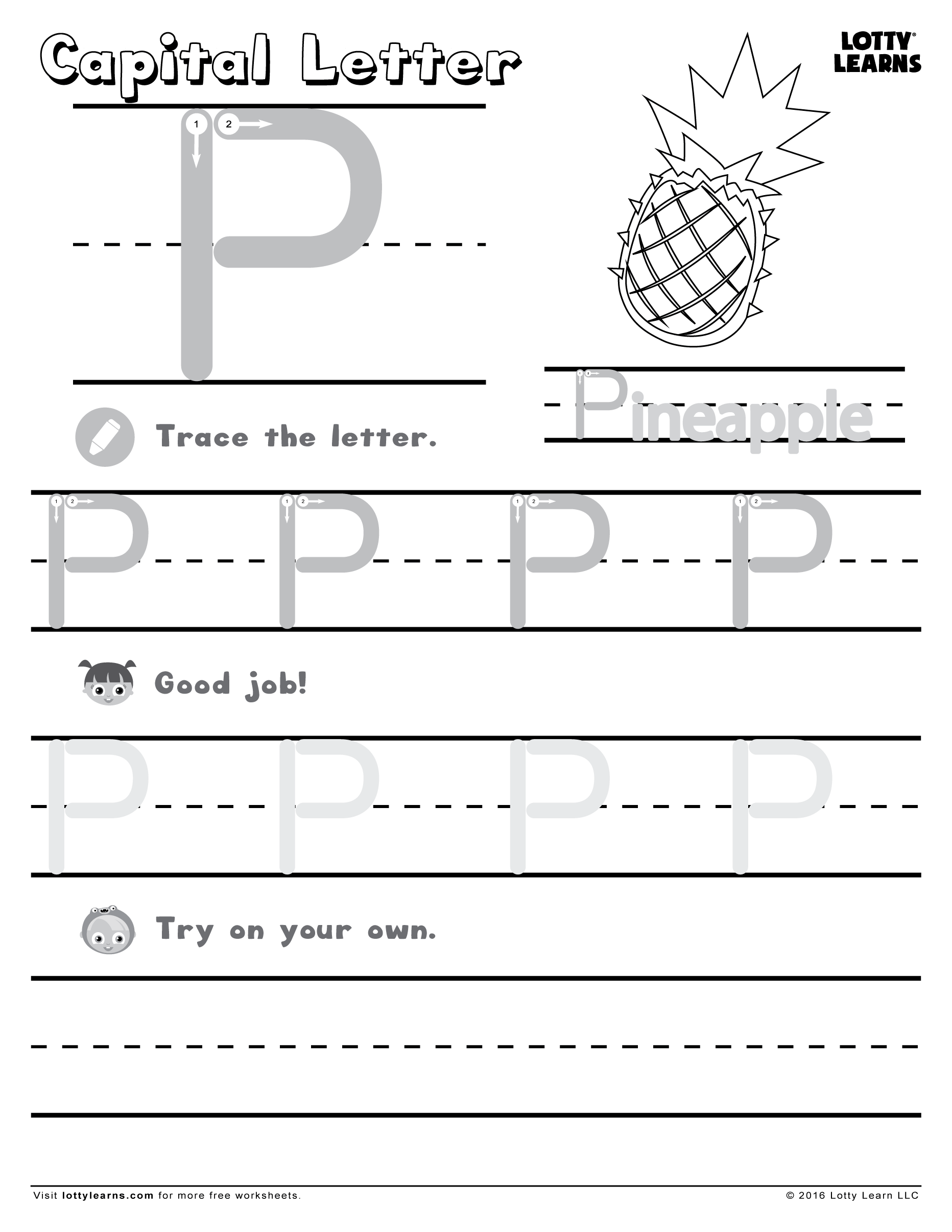 Capital Letter P