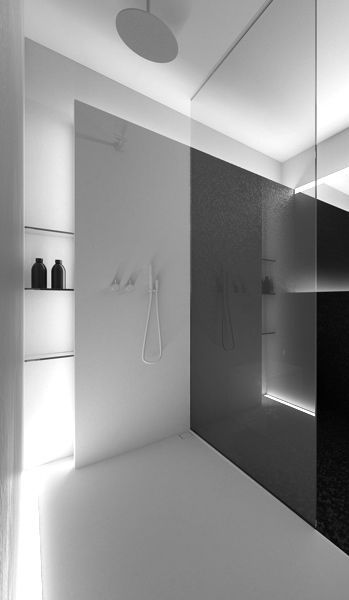 black and white Ablage in der Duschwand bathroom Pinterest - badezimmer design badgestaltung