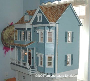 Front Opening Country Victorian Dollhouse Kit By Real Good Toys
