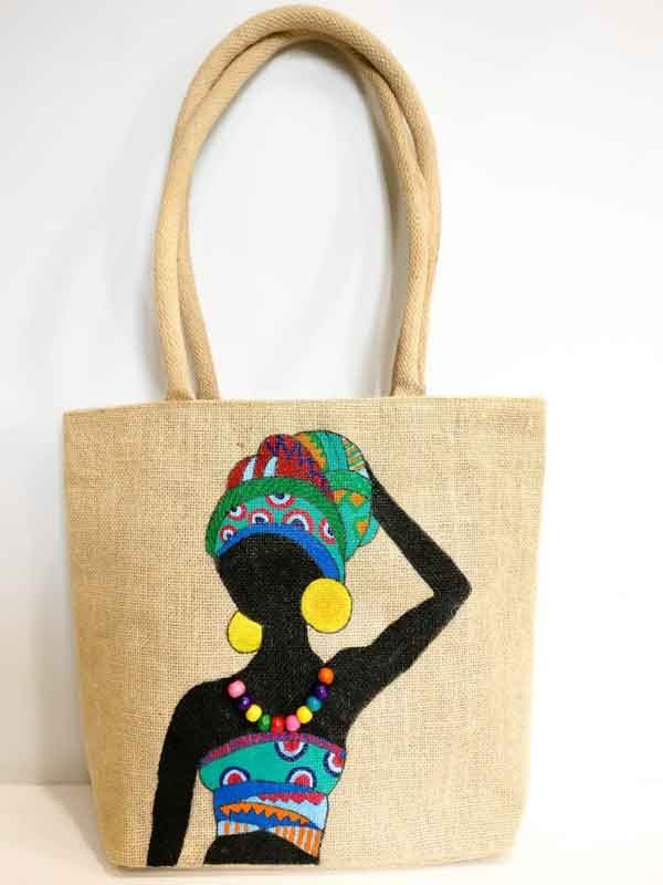 170 Art On Material Lapverf Ideas Jute Bags Painted Bags Fabric Painting