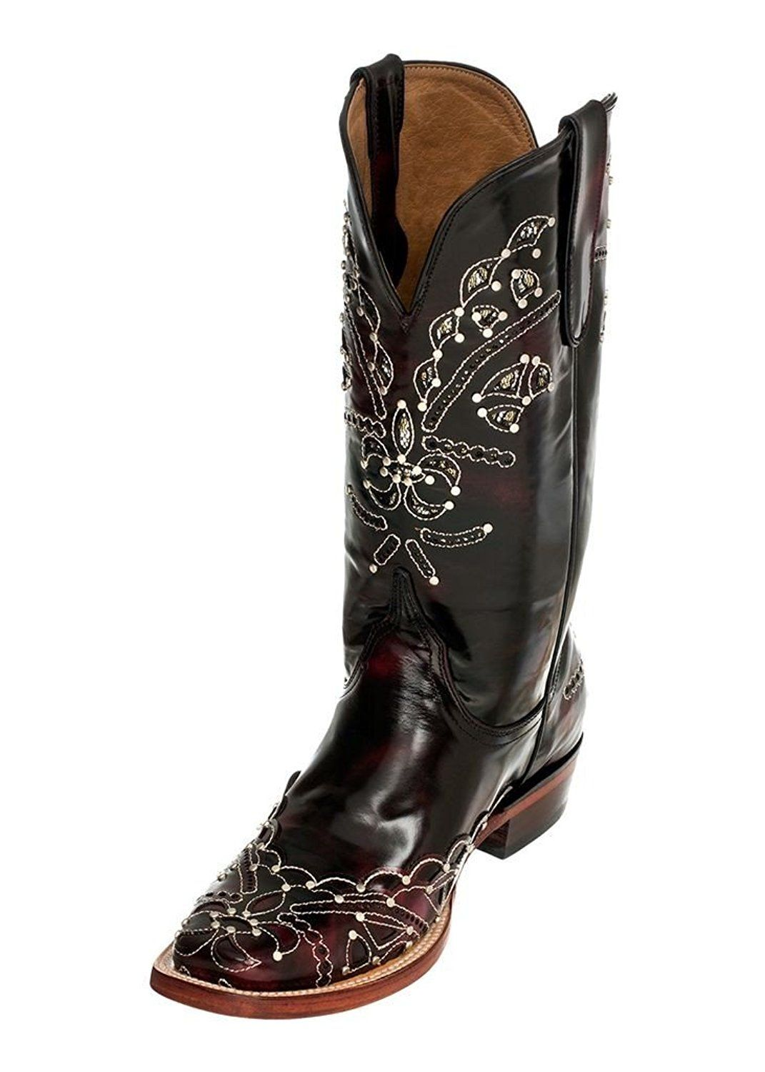 Ferrini Women's Cherry Wild Diva Cowgirl Boot Square Toe - 8267108 *** Tried it! Love it! Click the image. : Women's cowboy boots