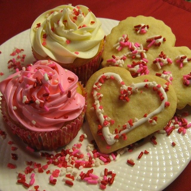 Happy Valentine's Day - Cupcakes and Sugar Cookies