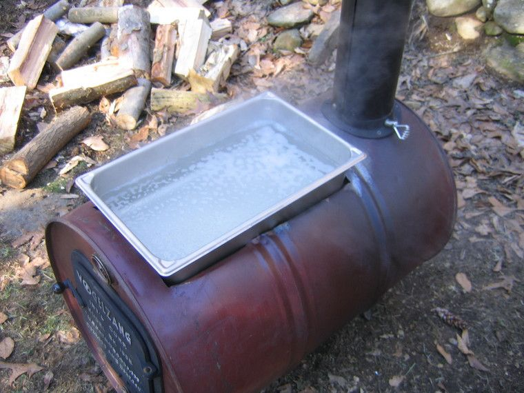 pan for cooking maple syrup