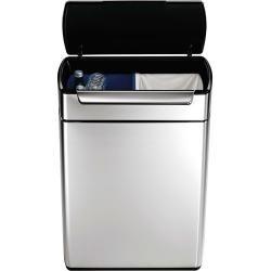 Photo of Touch-Bar-Abfallbehälter mit einfachem Doppelfach