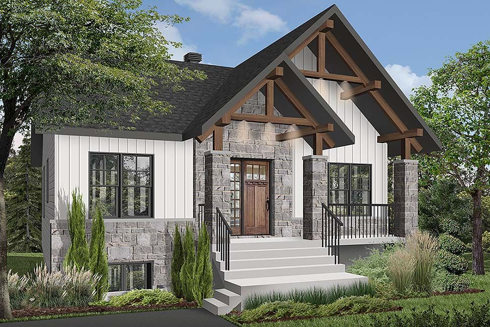 Craftsman Style House Plan 76532 With 2 Bed 1 Bath Craftsman