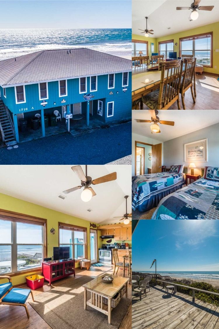 2br 2ba Sleeps 6 North Side Of Duplex Fins Is A Fine Place For Friends And Family This Lovely Duple Surf City North Carolina Vacation Rentals Vacation Home