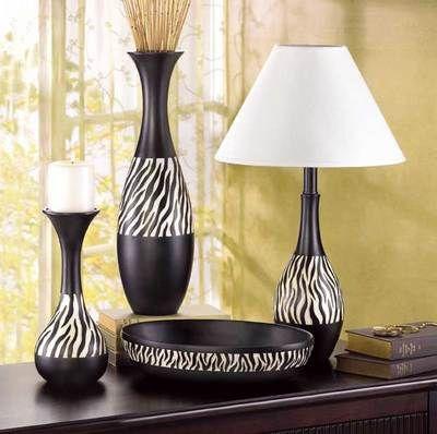 Elegant Zebra Stripe Lamp