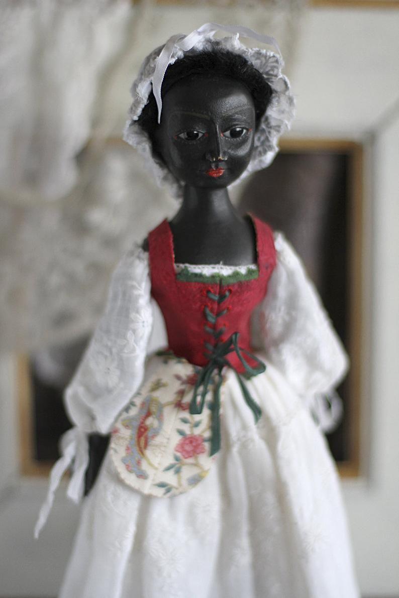 Queen Anne style wooden doll #dollvictoriandressstyles