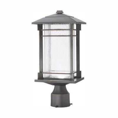 Home Decorators Collection Outdoor Oil Rubbed Bronze Integrated Led Post Light Outdoor Post Lights Oil Rubbed Bronze Lantern Post