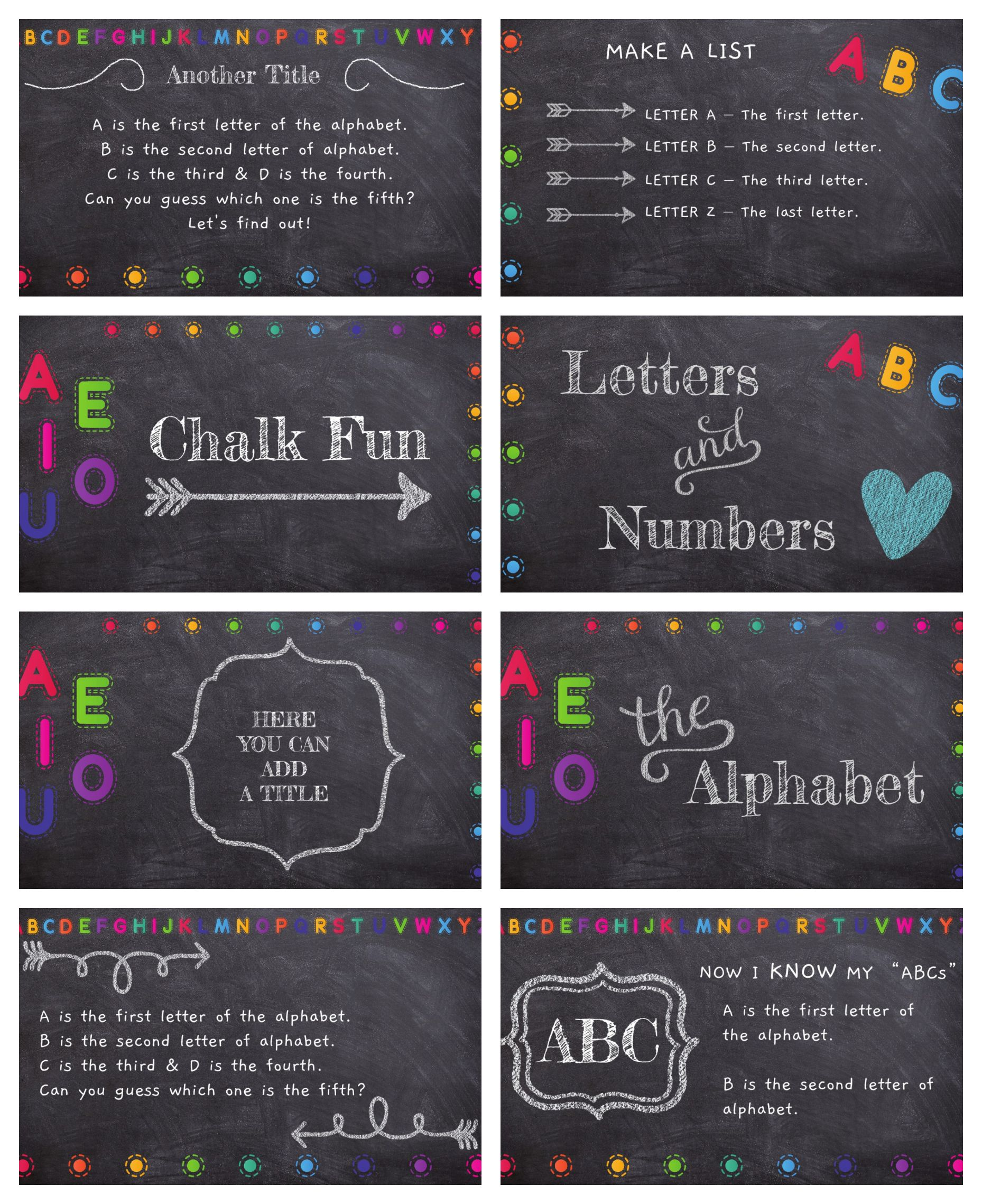 Chalk Fun Template Free Powerpoint Template Or Google Slides Theme Powerpoint Template Free Google Slides Template Google Slides Themes