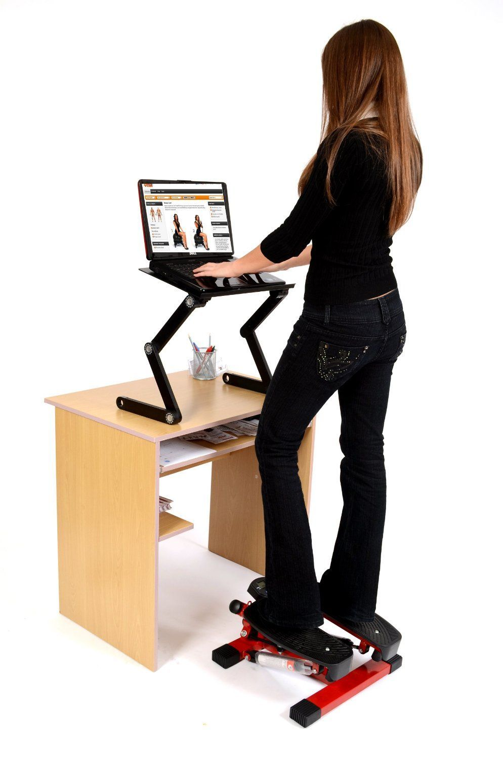 Bon Office Fitness Twist Stepper With Bungee Cords Black/Red Mini Twist Stepper  Fitness Workout Machine: Amazon.co.uk: Sports U0026 Outdoors # ...