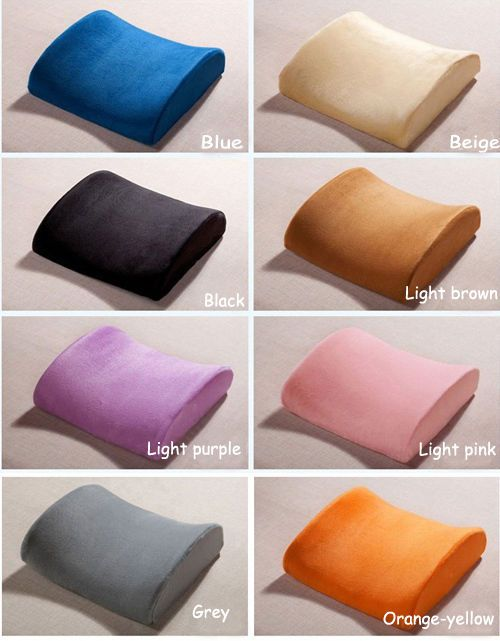 Memory Foam Lumbar Back Support Cushion Pillow For Office Home Chair
