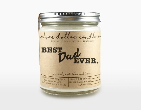 Custom 8oz Personalized Candle For Dad Fathers Day Gift Best EverDad Birthday Gifts