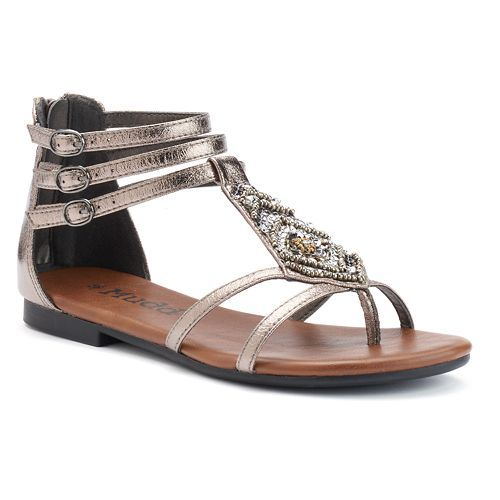 577327da771 Mudd Gladiators in Pewter   Kohls (Orig.  49.99   Sale  39.99)  Pump up  your style with these women s gladiator sandals from Mudd. Featrues beaded  accents ...