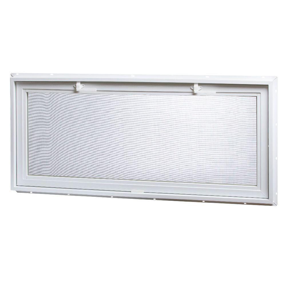 Tafco Windows 46 25 In X 21 In Large Hopper Ranch Vinyl Window White Vrh4621 I The Home Depot In 2020 Window Vinyl Window Design Aluminum Screen