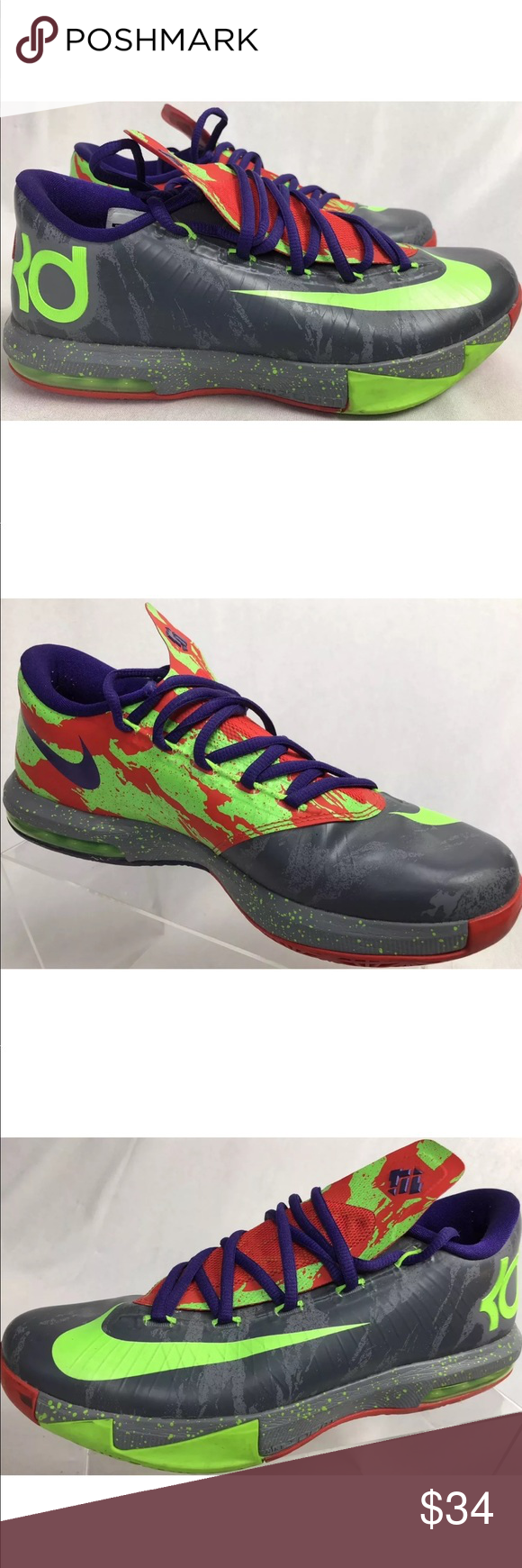0f86e21bcc74 Nike KD Kevin Durant Men s 8 Basketball shoes You are buying a pair of NIKE  599424-008 KD Men s Shoes VI 6 Energy Durant Basketball Euro 41 Color Green  ...