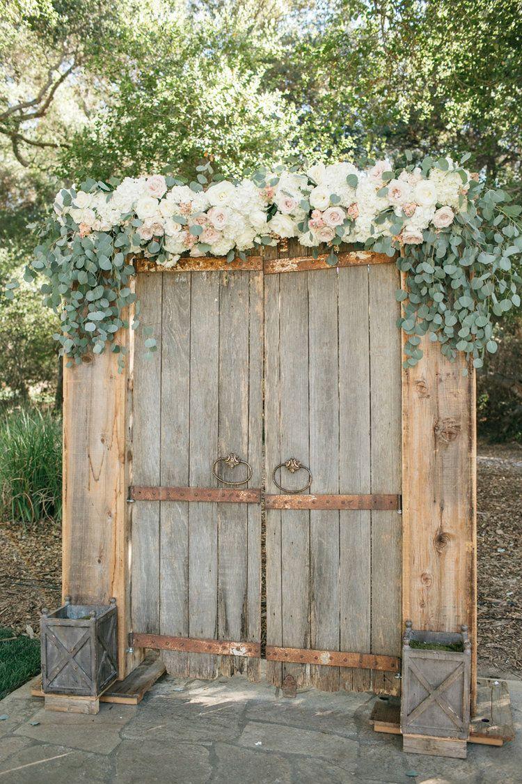 Barn Door Ceremony Backdrop Temecula Creek Inn Weddings