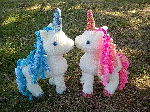Amigurumi Conejo Paso A Paso : Tutorial unicornio amigurumi tejeremos cuerno rulos y cuerpo