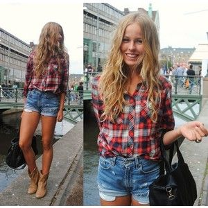 I'm not a huge fan of the high waisted denim shorts, but this is ...