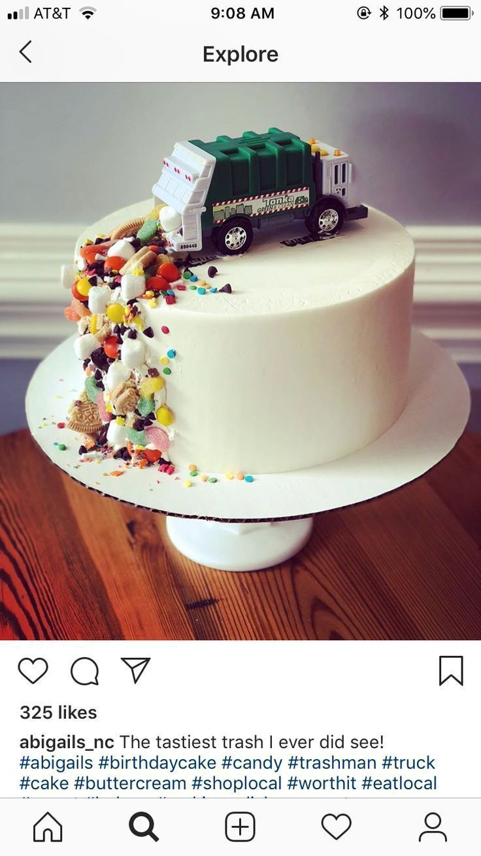 Müllwagen-Kuchen - #Cake #Garbage #truck - #cake #Garbage #cakes -  #Cake #cakes #garbage #ku... #cakedecorating