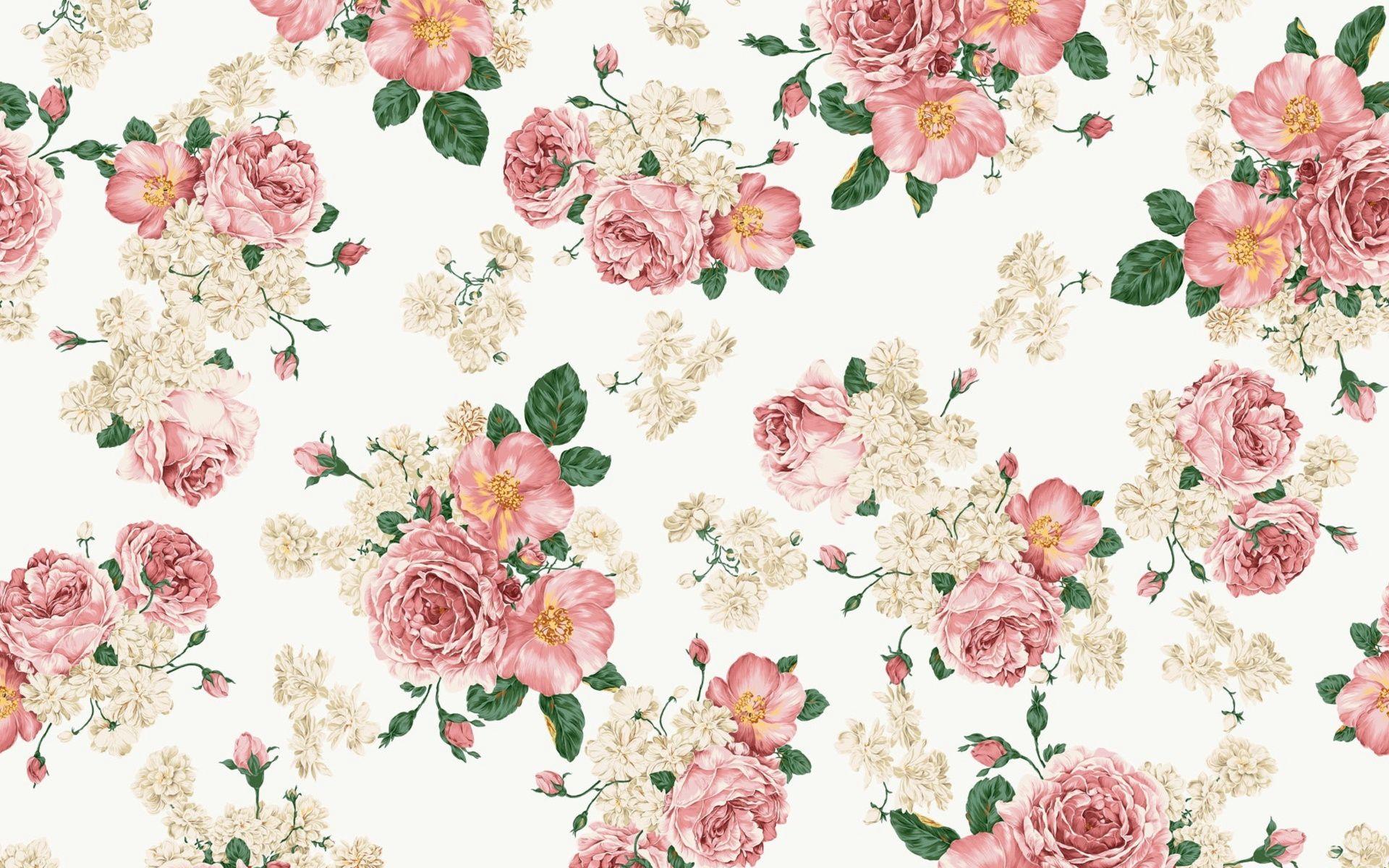 Vintage Floral Wallpaper Hd Vintage Flowers Wallpaper Vintage