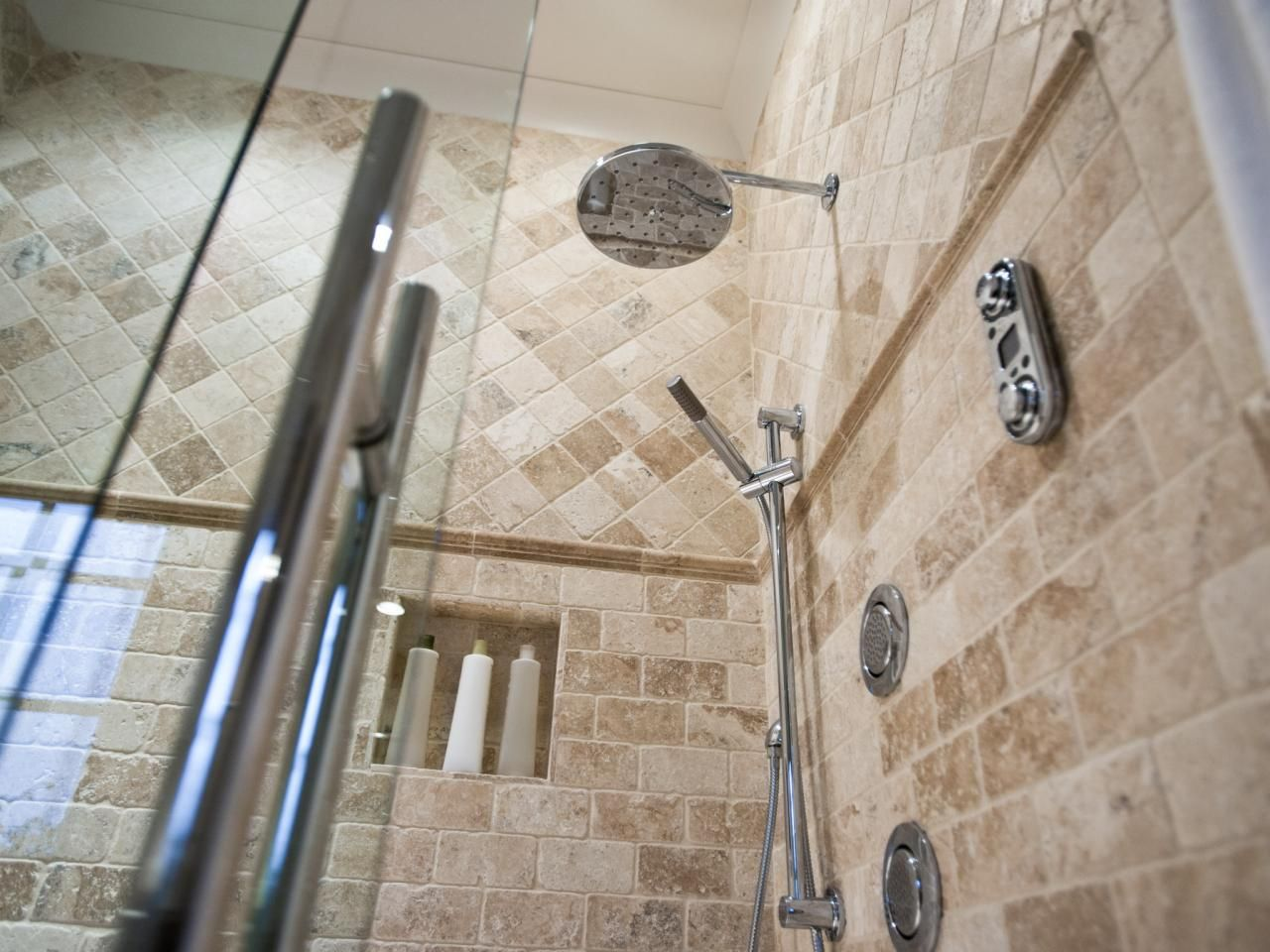 Moen Waterfall Shower Head   Master Bathroom Pictures From HGTV Smart Home  2014 On HGTV