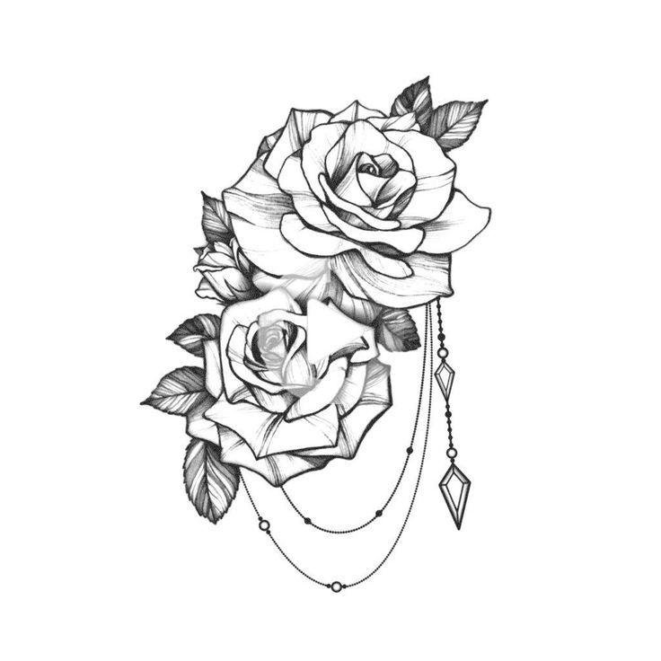 Tatouage Bijoux Rose - Stylische Männer