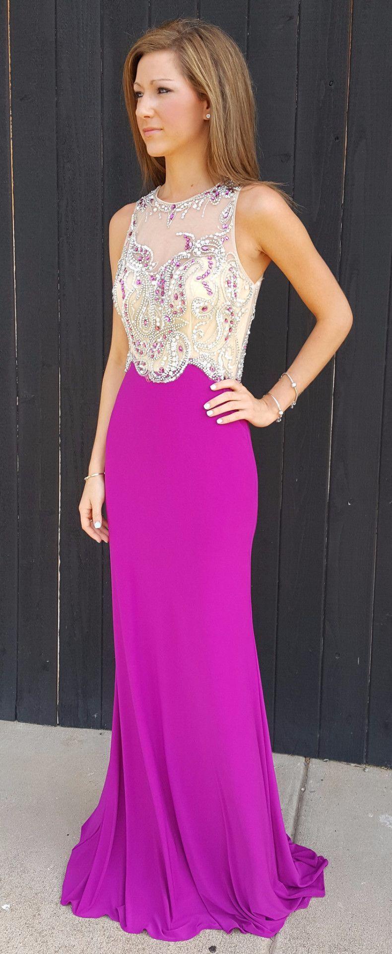Magenta Formal Gown | Pinterest | Vestido largo, Costura y Vestiditos