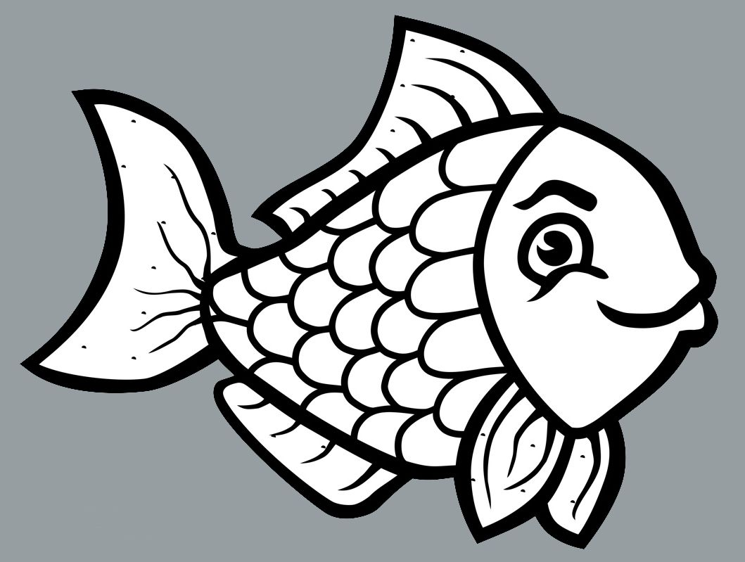 999+ Fish Clipart Black and White [Free Download] Cloud