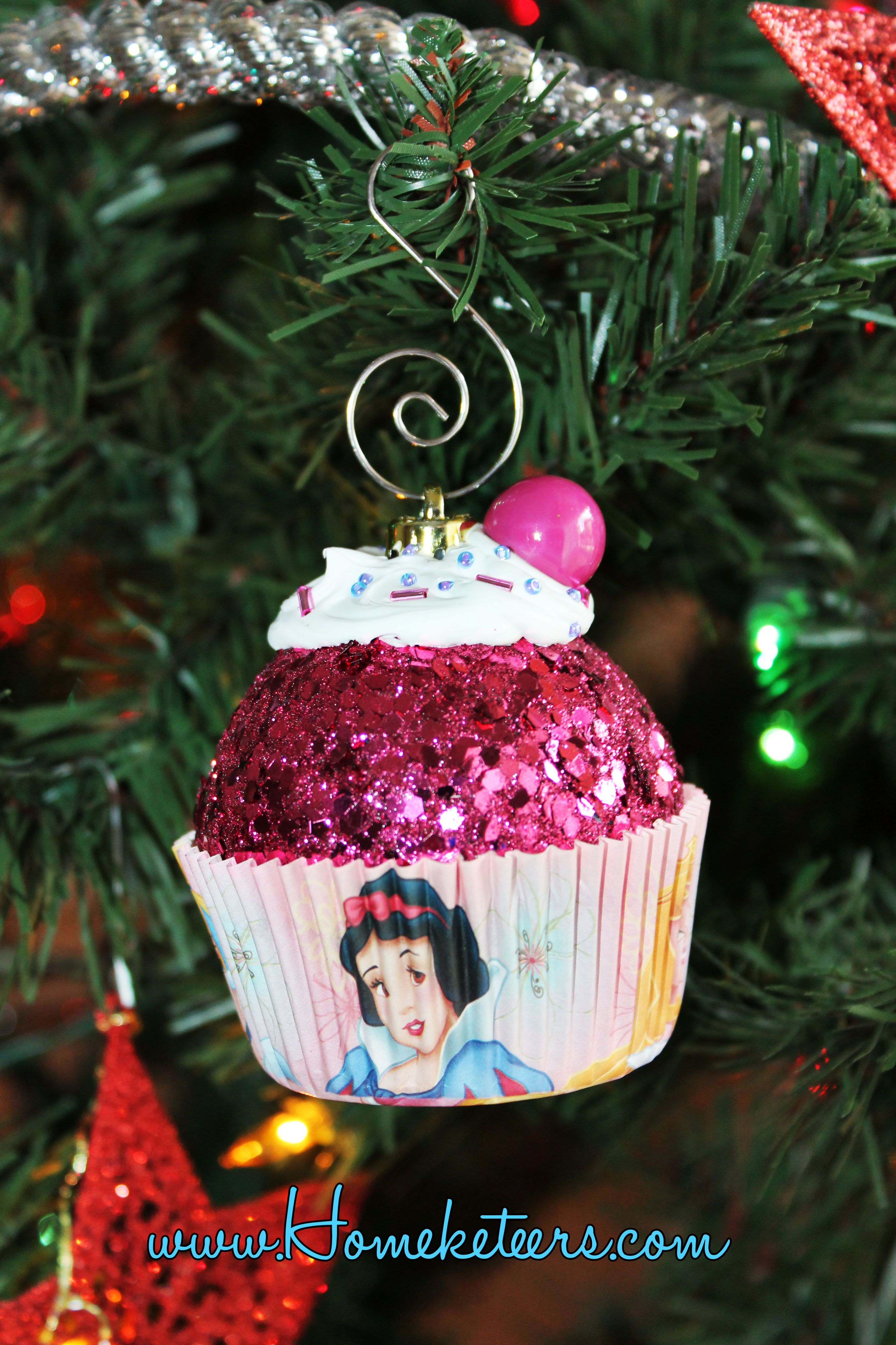 How to Make Cupcake Ornaments Disney christmas