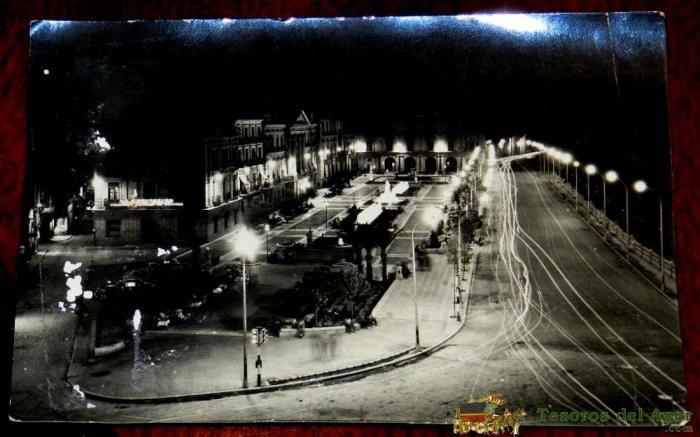 Ref. Lote: 79610  ANTIGUA FOTO POSTAL DE MURCIA, GLORIETA DE ESPAñA DESDE EL HOTEL VICTORIA, N. 1097, CIRCULADA, ED. ARRIBAS, TIENE UNA RAJITA DE 1 CMS EN LA PARTE INFERIOR. http://www.tesorosdelayer.com/imgs/lotes/lote_79610.jpg