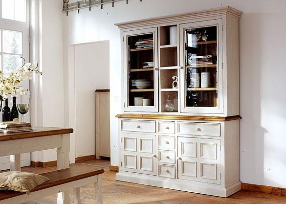 Buffet Landhaus Beppo Landhausmöbel Weiß Holz Kiefer massiv 5862 - landhausmöbel weiss wohnzimmer