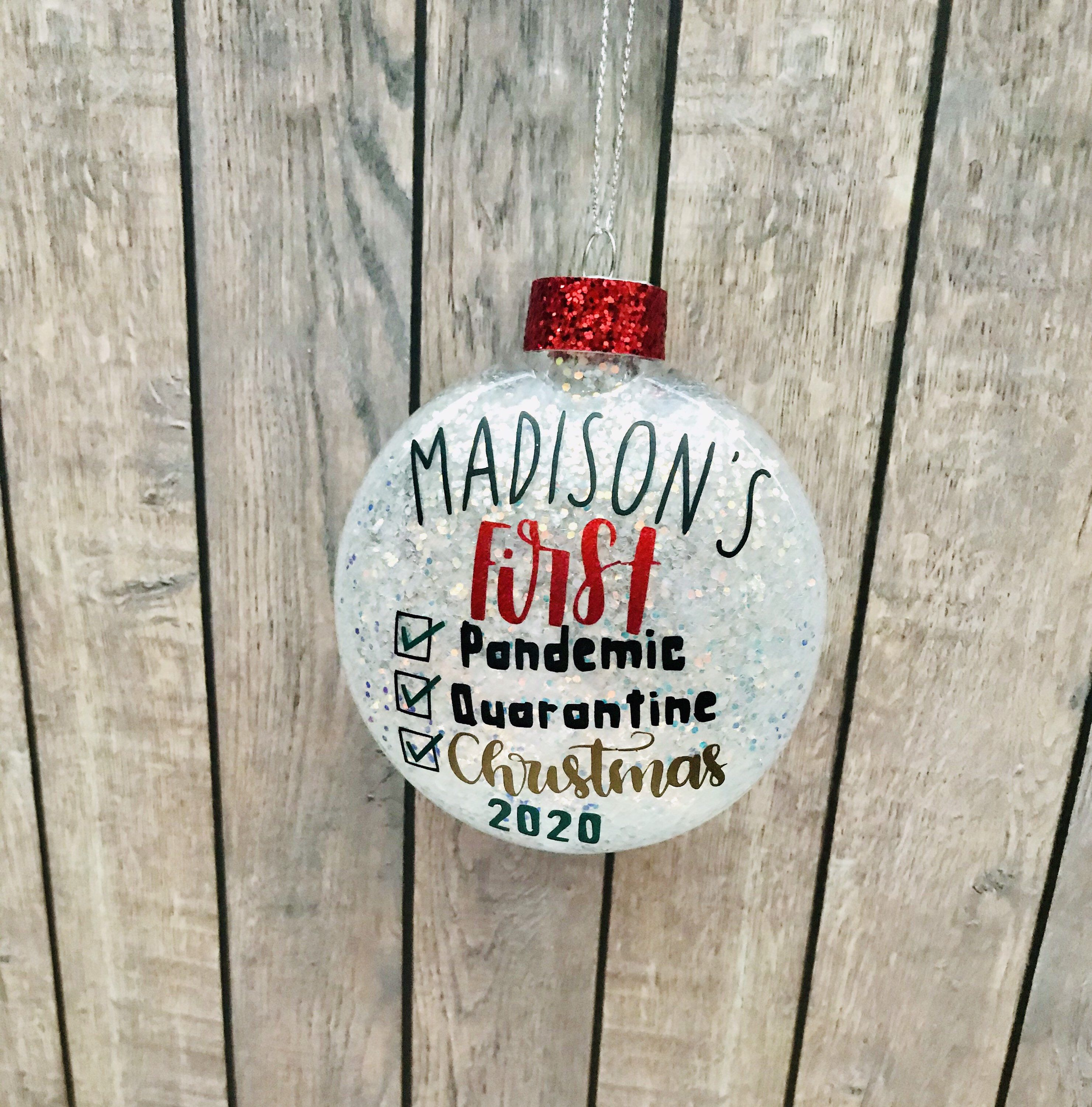 Personalized Baby Ornament Babys First Christmas Ornament Etsy In 2021 Baby Christmas Ornaments Vinyl Christmas Ornaments First Christmas Ornament